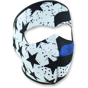 Zan Headgear Full Face Mask Thin Blue Line (White, OSFM)