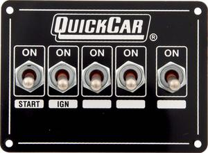 QUICKCAR RACING PRODUCTS 4-1/8 x 3 in Dash Mount Switch Panel P/N 50-7731