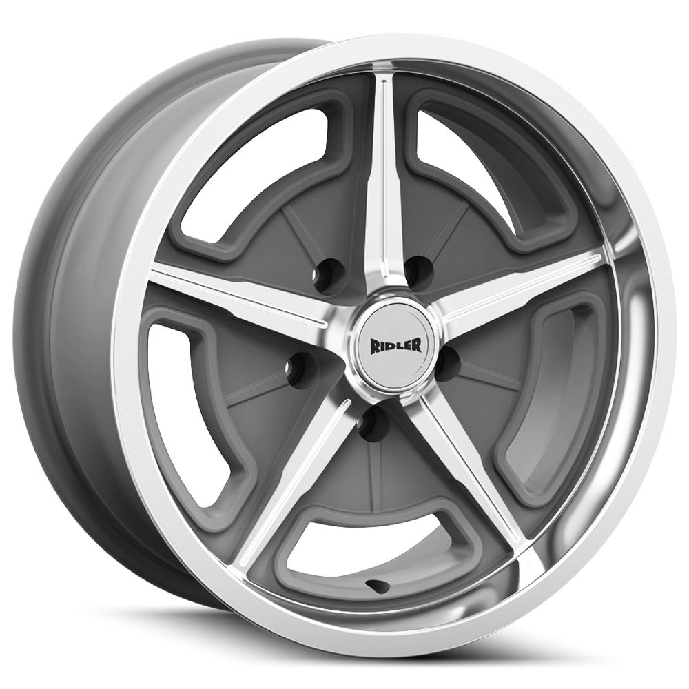 "Ridler 605 17x7 5x5"" +0mm Gunmetal/Machined Wheel Rim 17"" Inch"