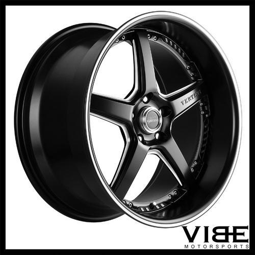 20 Vertini Drift Black Five Star Wheels Rims Fits Infiniti G35 Coupe