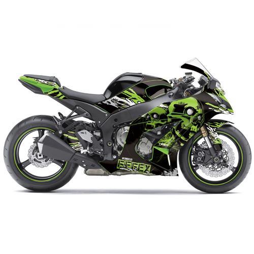 Fx Skull Sport Bike Pre Cut Graphics Wrap Kit For Kawasaki Ninja