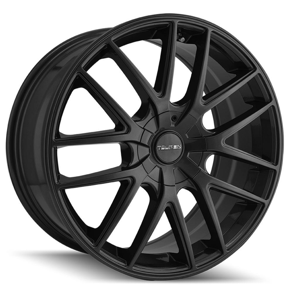 """Touren TR60 18x8 5x115/5x120 +20mm Matte Black Wheel Rim 18"""" Inch"""