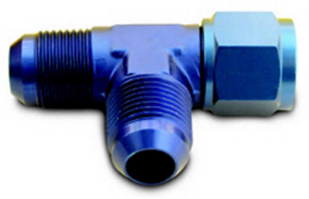 A-1 Products Aluminum Blue 3 AN Adapter Tee Fitting P/N CPL82603
