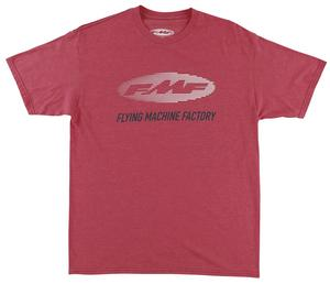 FMF Racing Stacked T-Shirt Heather Red (Red, Medium)