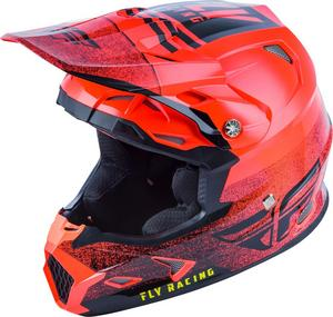 Fly Racing Toxin MIPS Embargo Youth Helmet Neon Red/Black (Red, Large)