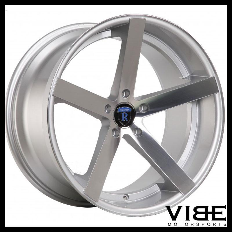"20"" ROHANA RC22 SILVER CONCAVE WHEELS RIMS FITS CADILLAC CTS V COUPE"