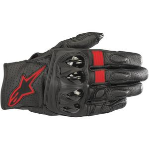 Alpinestars Celer V2 Leather Gloves Black/Red Fluorescent (Black, XX-Large)