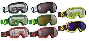 Scott Adult Buzz Pro Motorcycle MX ATV Goggles Green/Yellow W/Gold Chrome Lens