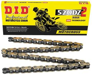 D.I.D DID 520 DZ2 Gold Chain 94 Links with Clip Masterlink