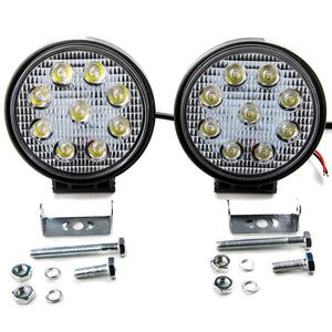 2pcs 18W Flood LED Light Round Bar Offroad Lights 4WD LED Driving Lamp Work Light Bulb Fog Lights for Truck Pickup Jeep SUV ATV UTV Waterproof