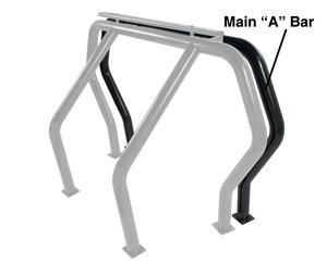 Go Rhino 98001B Rhino Bed Bars Front Main A Bar Fits 04-15 F-150
