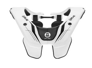 Atlas Prodigy Neck Brace Ghost White (White, OSFM)