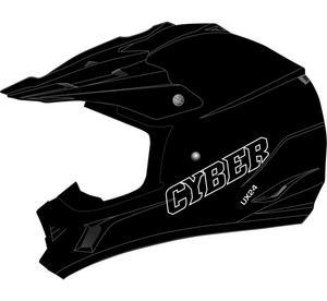 Cyber Adult Motorcycle MX ATV Helmet UX-24 Matte Black XS