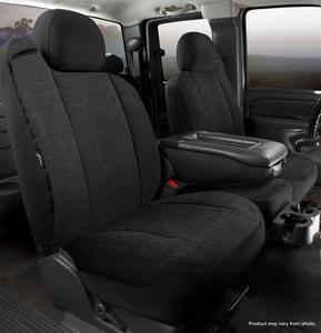 Fia TRS48-37 BLACK Wrangler Solid Seat Cover Fits 19 Sierra 1500 Silverado 1500