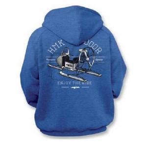 HMK Old School Full Zip Hoody (Blue, Small)