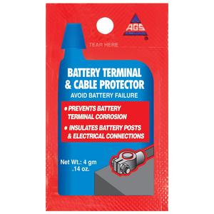 AGS Battery Terminal Protector, Single-Use 4g pouches, pack of 25 (BT-1-25)