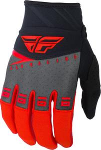 Fly Racing F-16 Youth Gloves Red/Black/Gray (Red, 2)