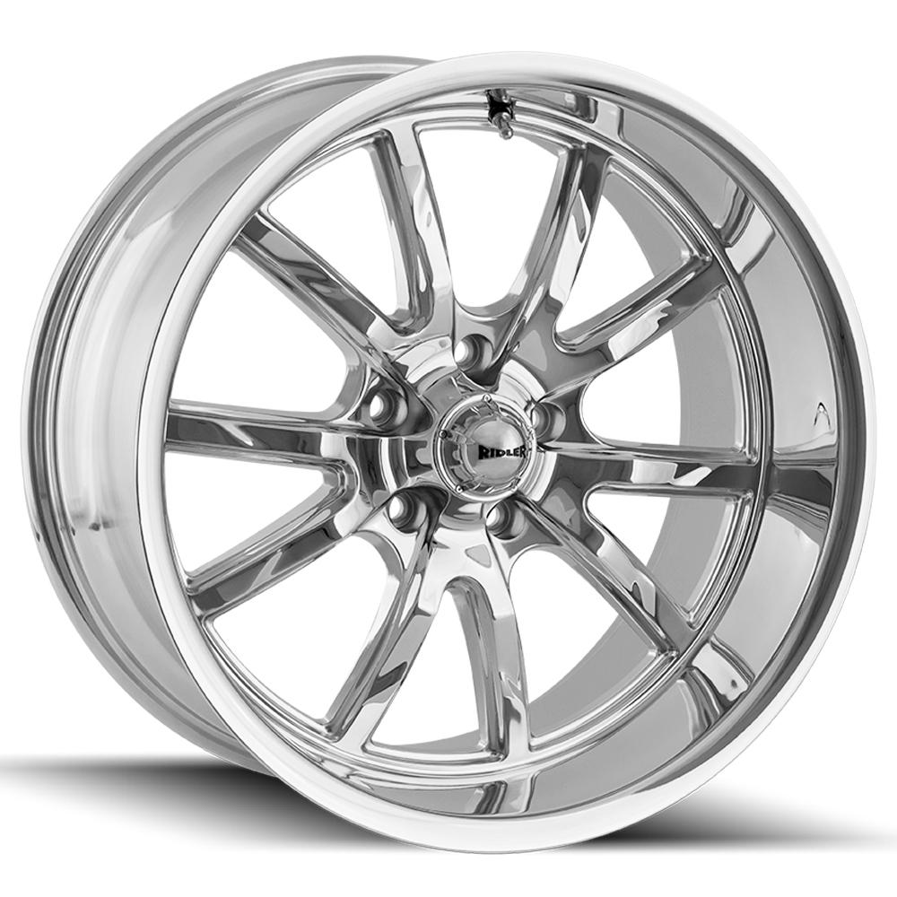"Ridler 650 18x8 5x4.75"" +0mm Chrome Wheel Rim 18"" Inch"