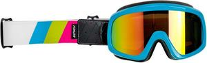 Biltwell Inc. Overland 2.0 Tri Stripe Goggles Pink/Green/Cyan (Blue, OSFM)