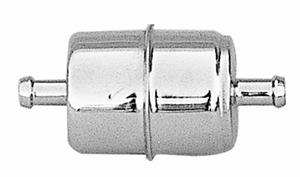 """Trans-Dapt Performance 3/8"""" DISPOSABLE FUEL FILTER-CHROME (not for fuel injectio"""