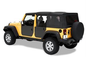 Bestop HighRock 4x4 Element Doors Panels; Rear - Jeep 2007-2018 Wrangler JK Unli