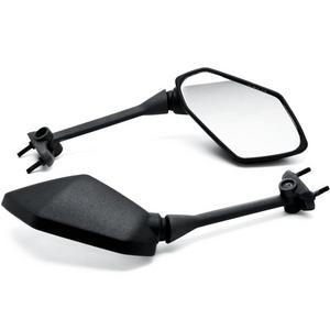 Krator Black Motorcycle Mirrors For Kawasaki Ninja 650R 09-14 / 400R 10-14 /Z1000 11-14