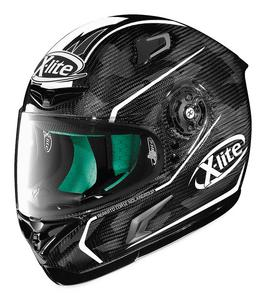X-Lite X-802RR Ultra Marquetry Motorcycle Helmet Carbon White Adult Size M