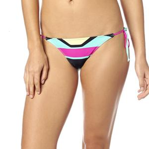Fox Stereo Womens Side Tie Bottom Fuchsia (Pink, Large)