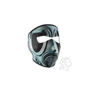 Zan Headgear Full Face Mask Gas Mask (Blue, OSFM)