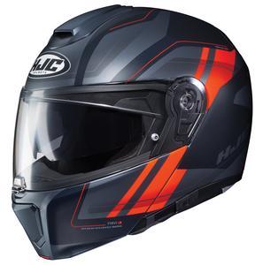 HJC RPHA 90 Tanisk Helmet Semi-Flat Hi-Viz Bright Orange (MC-6HSF) (Black, Small)