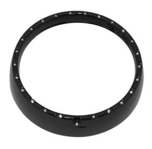 Custom Dynamics CDTB-7TR-3B 7in. LED Halo Headlight Trim Rings with Built-In Turn Signals - Gloss Black