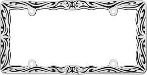 Cruiser Accessories 22135 Fashion License Plate Frame
