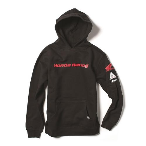 Factory Effex Licensed Honda Racing Pullover Hoodie Black Youth Size XL