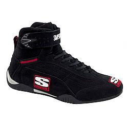 SIMPSON SAFETY Size 8 Black High-Top Adrenaline Driving Shoes P/N AD800BK