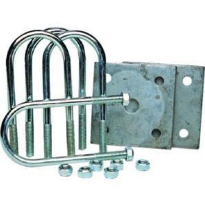 Tie Down Engineering 81175 Galvanized Tie Plate Kit - 1.90in. Round Axle