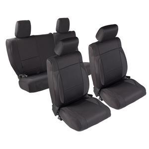 Smittybilt 471601 Neoprene Seat Cover 13-16 Wrangler JK Black/Black Front/Rear