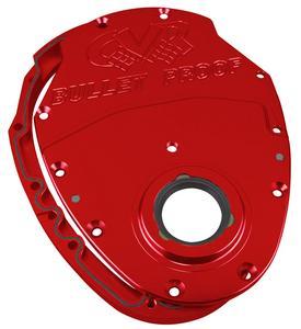 CVR PERFORMANCE SBC/GM V6 Red Aluminum 2-Piece Timing Cover Kit P/N TC2350R