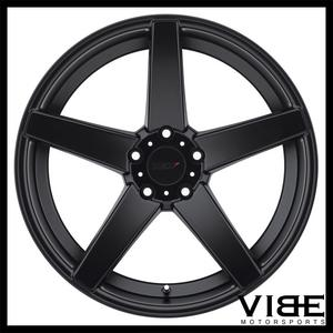"""19"""" TSW SOCHI BLACK FORGED CONCAVE STAGGERED WHEELS RIMS FITS ACURA TL"""