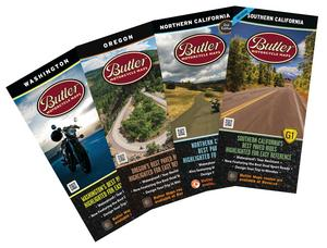 Butler Maps PACPACK Pacific Pack Motorcycle Map