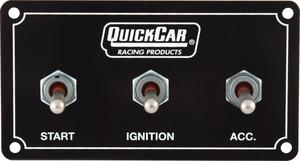 QUICKCAR RACING PRODUCTS 4-5/8 x 2-1/2 in Dash Mount Switch Panel P/N 50-711