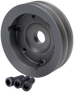 ALLSTAR 6.625 in 2 Groove V-Belt SBC Natural Crankshaft Pulley P/N 31094