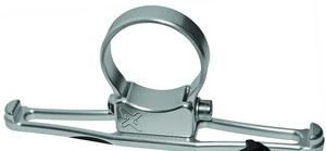 Axia Alloys MODHGH-C Headset/Goggle Hanger - Parallel to Bar - Silver