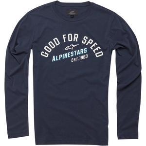 Alpinestars Uplift Long Sleeve Knit Shirt Navy (Blue, Medium)