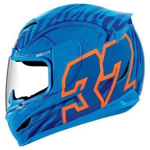 Icon 0133-0732 Side Plate Kit for Airmada Bostrom Helmet - Blue