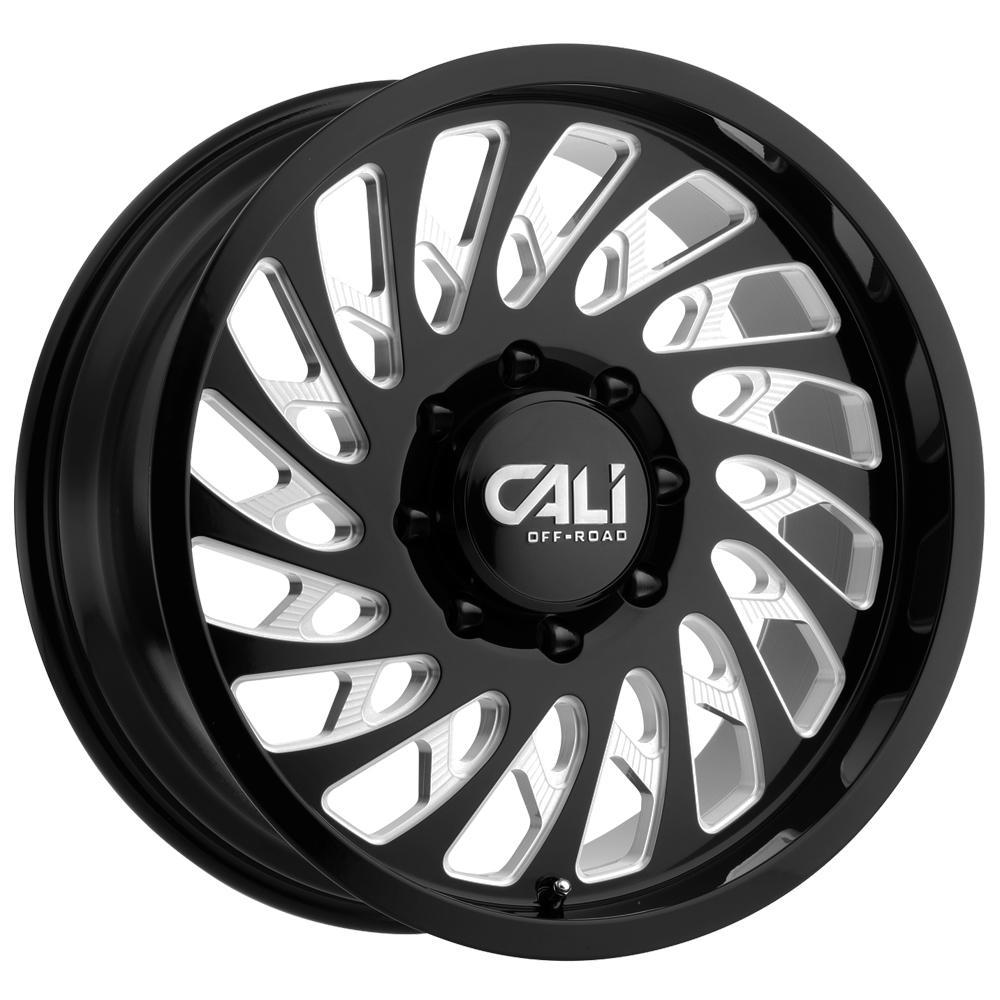"4-Cali Off-Road 9108 Switchback 20x9 8x6.5"" +0Black/Milled Wheels Rims 20"" Inch"