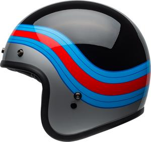 Bell Helmets Custom 500 Pulse Helmet Gloss Black/Blue/Red (Black, Medium)
