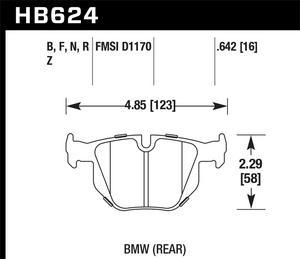 Hawk Performance HB624F.642 Disc Brake Pad