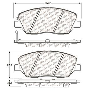 StopTech 105.13850 Disc Brake Pad Fits 09 Borrego