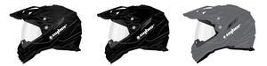 Cyber Adult Motorcycle Dual Sport Helmet UX-33 Black XL