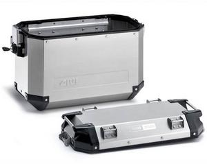 GIVI Dual Sport Motorcycle RIGHT Side Case 48 Liter Outback Silver OBK48ARA